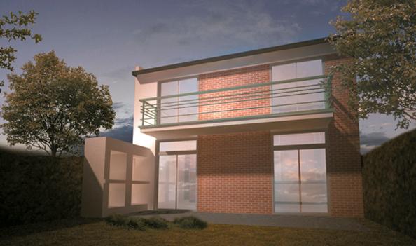 Contempor nea techo curvo 1 dormitorio aberturas maglei for Modelo de casa procrear lujan 3 dormitorios
